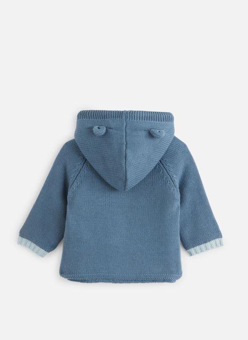 Vêtements Noukies Cocon Mantelet Tricoloudoux Bleu vue bas / vue portée sac