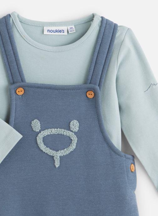 Vêtements Noukies Cocon Set Salopette Sweatldx Bleu vue portées chaussures