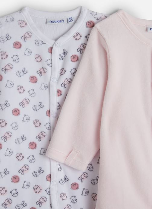 Vêtements Noukies Plume Set De 2 Db Velours Rose vue portées chaussures