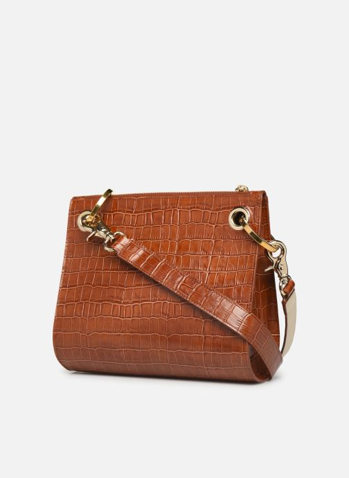 Handbags Sainte Isaure Patty Brown view from the right