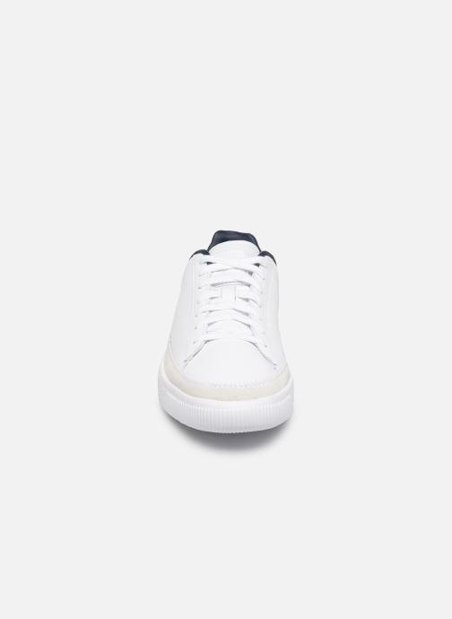 Sneaker Puma Basket Trim Block weiß schuhe getragen