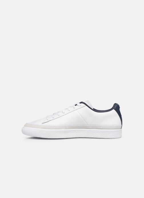 Trainers Puma Basket Trim Block White front view