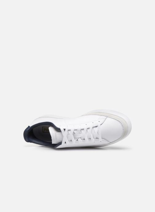 Trainers Puma Basket Trim Block White view from the left