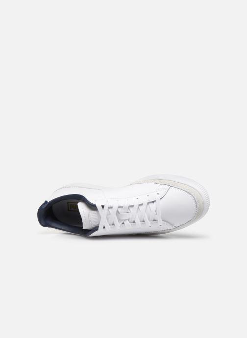 Sneaker Puma Basket Trim Block weiß ansicht von links