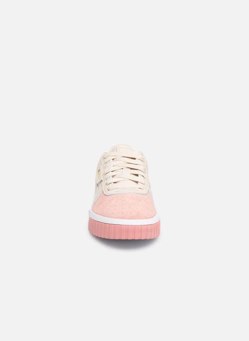 Sneakers Puma Cali Remix Wn'S Beige modello indossato