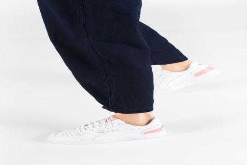 Sneaker Puma Ralph Sampson Lo W beige ansicht von unten / tasche getragen