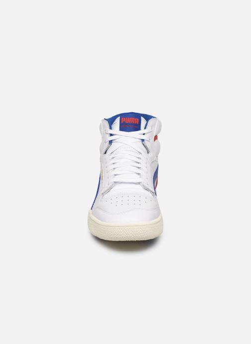Baskets Puma Ralph Sampson Mid M Blanc vue portées chaussures