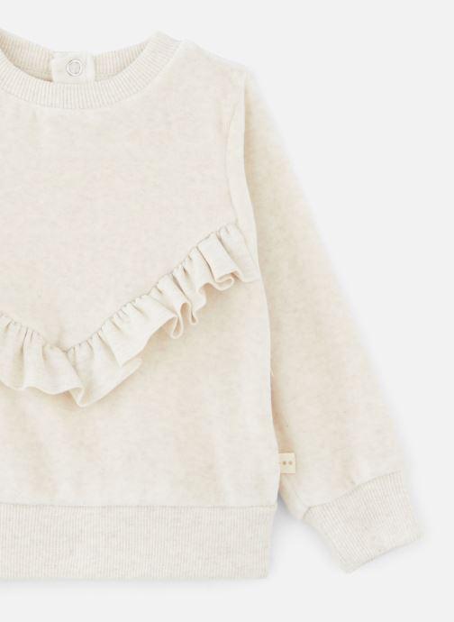Vêtements Les Petites Choses Sweatshirt Velours SACHA Beige vue portées chaussures