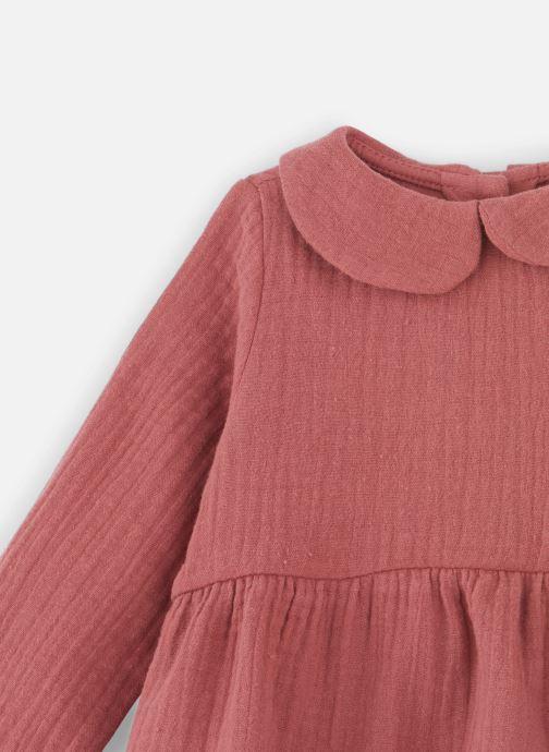 Vêtements Les Petites Choses Blouse BECCA Rose vue portées chaussures