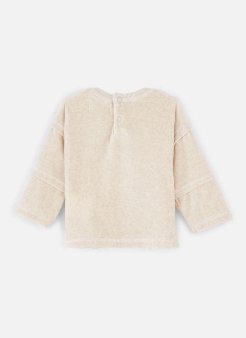 Vêtements Les Petites Choses Sweat Velours LOUIS Beige vue bas / vue portée sac