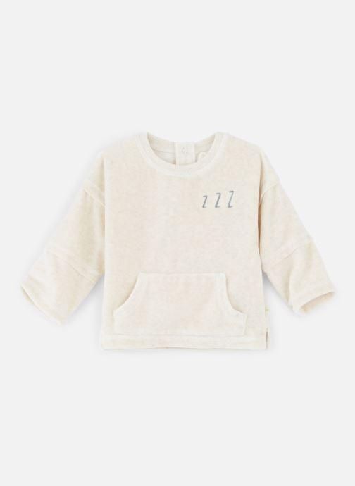 Vêtements Les Petites Choses Sweat Velours LOUIS Beige vue détail/paire