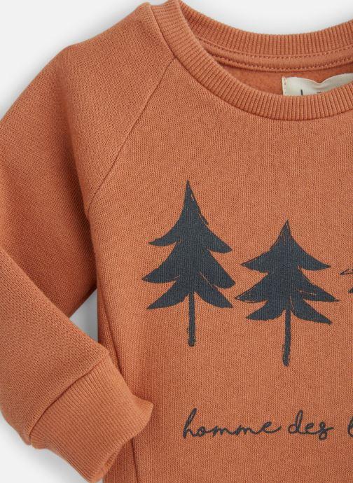 Vêtements Les Petites Choses Sweatshirt TRISTAN Orange vue portées chaussures