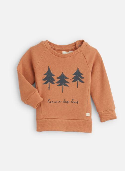 Vêtements Les Petites Choses Sweatshirt TRISTAN Orange vue détail/paire