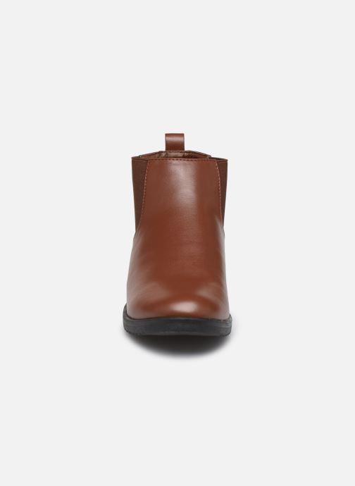 Bottines et boots Isotoner Chelsea Marron vue portées chaussures