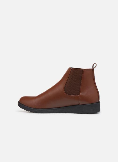 Bottines et boots Isotoner Chelsea Marron vue face