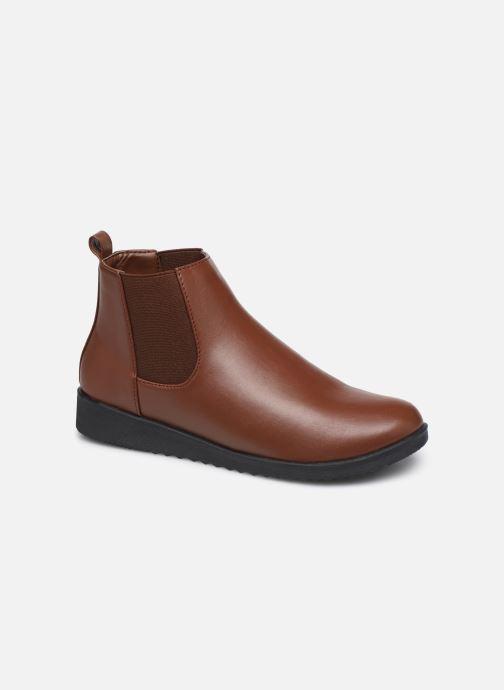 Bottines et boots Isotoner Chelsea Marron vue détail/paire