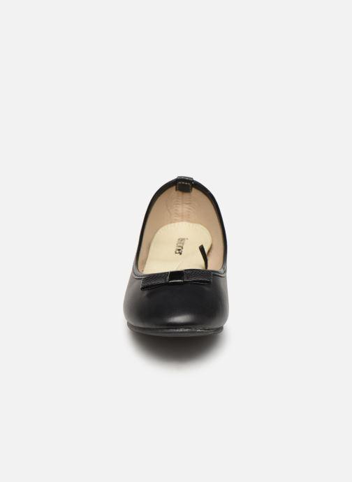 Ballerines Isotoner Ballerine nœud animal talon 3,5cm Noir vue portées chaussures