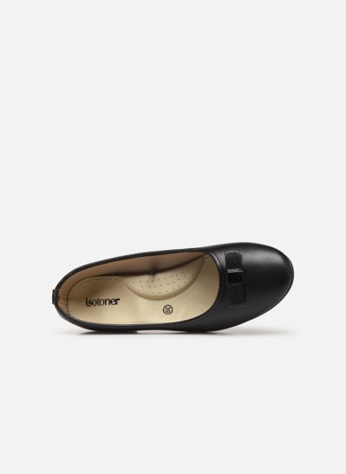 Ballet pumps Isotoner Ballerine nœud animal talon 3,5cm Black view from the left