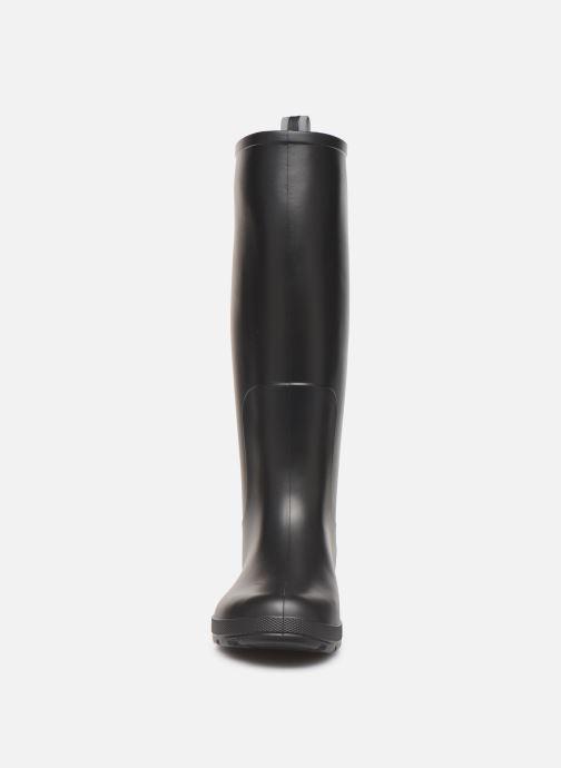 Bottes Isotoner Bottes de pluie hautes Noir vue portées chaussures