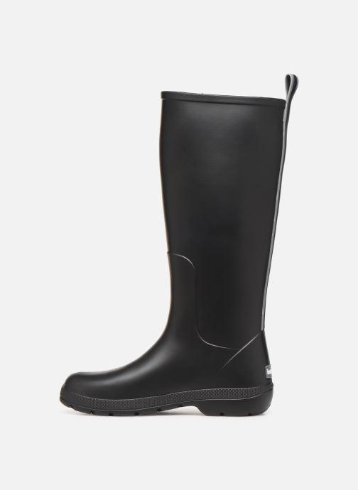 Bottes Isotoner Bottes de pluie hautes Noir vue face