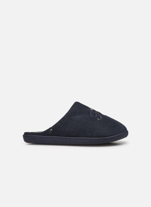 Pantofole Isotoner Mule velours broderie semelle ergonomique Azzurro immagine posteriore