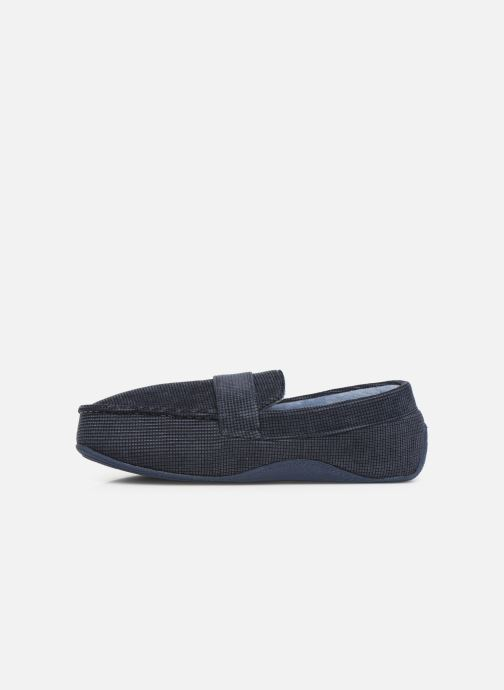 Slippers Isotoner Mocassin surpiqures Blue front view