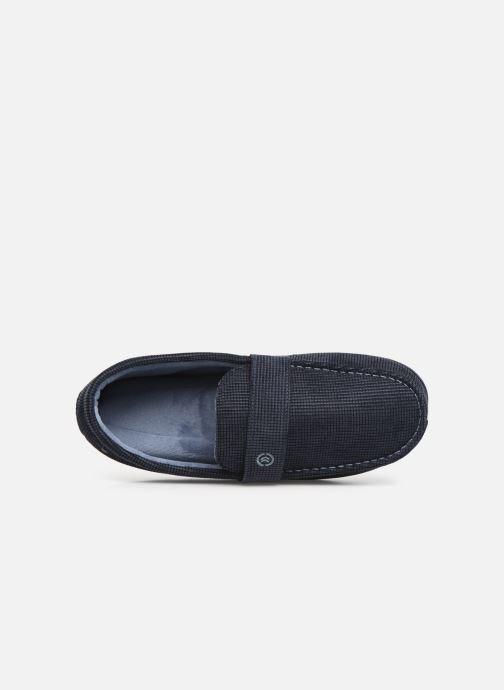 Pantofole Isotoner Mocassin surpiqures Azzurro immagine sinistra