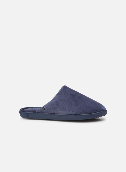 Hausschuhe Isotoner Mule velours semelle ergonomique M blau ansicht von hinten