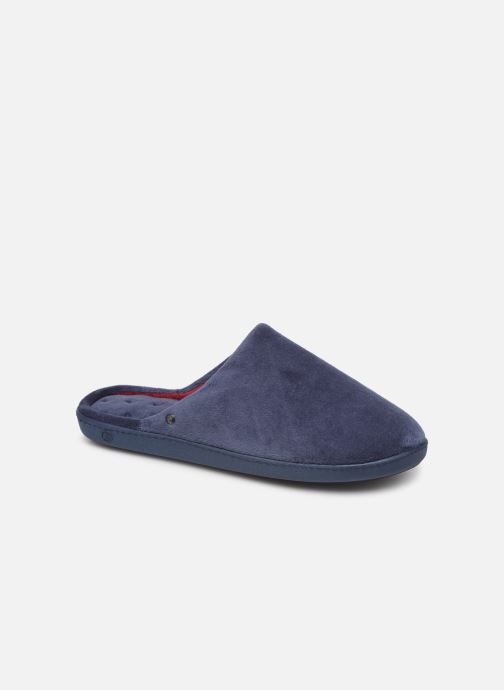 Chaussons Isotoner Mule velours semelle ergonomique M Bleu vue détail/paire
