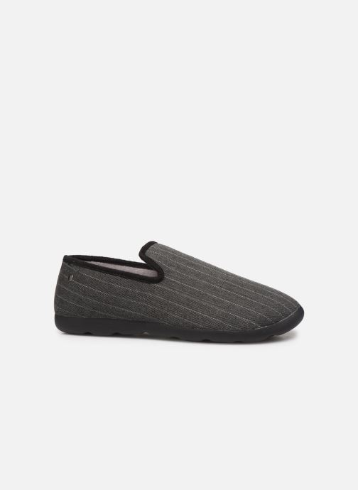 Slippers Isotoner Charentaise chevrons  Xtra flex Grey back view