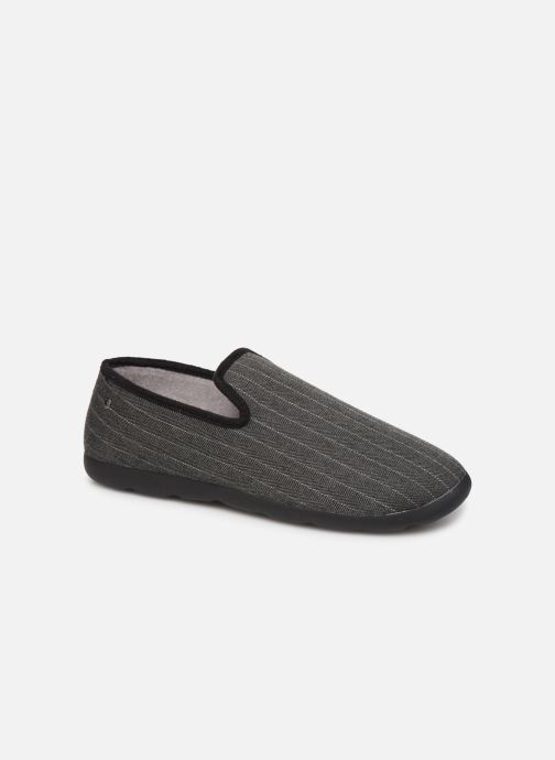 Slippers Isotoner Charentaise chevrons  Xtra flex Grey detailed view/ Pair view