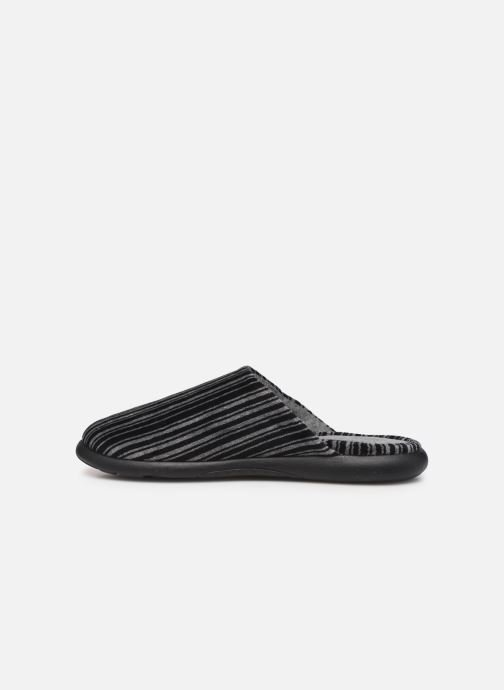Pantofole Isotoner Mule velours semelle ergonomique Xtra flex Grigio immagine frontale