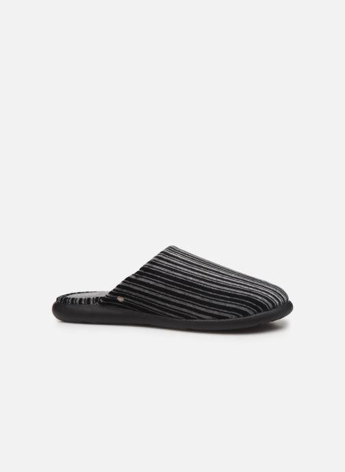 Pantoffels Isotoner Mule velours semelle ergonomique Xtra flex Grijs achterkant