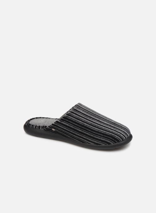 Chaussons Isotoner Mule velours semelle ergonomique Xtra flex Gris vue détail/paire