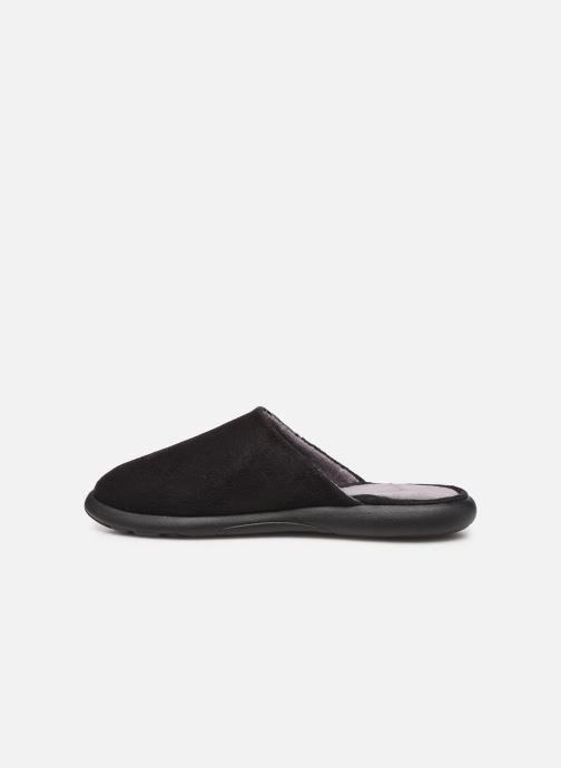 Slippers Isotoner Mule suédine semelle ergonomique Xtra flex Black front view