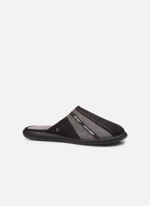 Slippers Isotoner Mule suédine semelle ergonomique Xtra flex Black back view