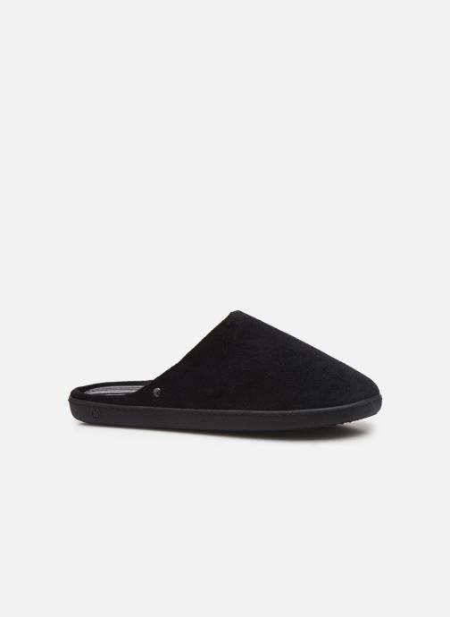 Slippers Isotoner Mule velours semelle ergonomique 2 Black back view