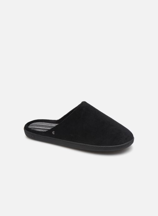Slippers Isotoner Mule velours semelle ergonomique 2 Black detailed view/ Pair view