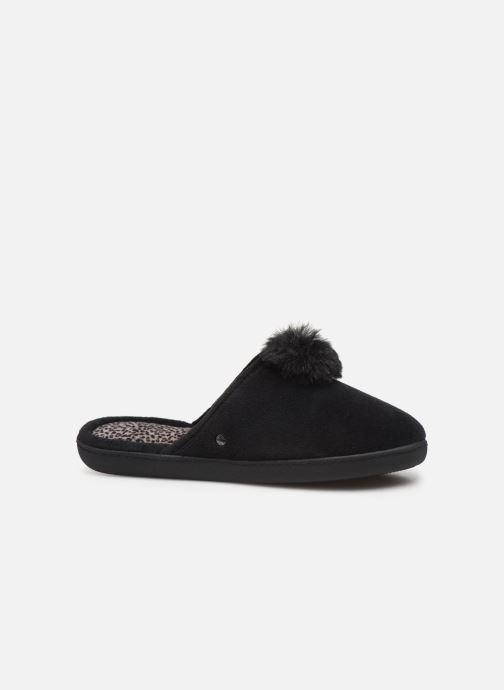 Pantoffels Isotoner Mule velours pompon semelle ergonomique Zwart achterkant