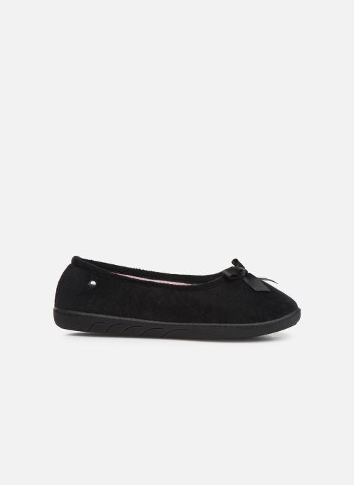 Slippers Isotoner Ballerine velours semelle ergonomique 2 Black back view