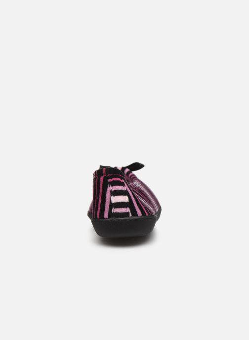 Chaussons Isotoner Ballerine velours semelle ergonomique 2 Multicolore vue droite