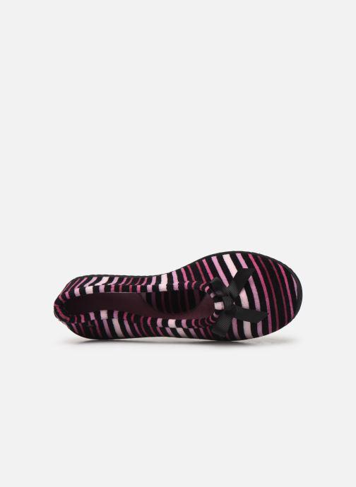 Chaussons Isotoner Ballerine velours semelle ergonomique 2 Multicolore vue gauche