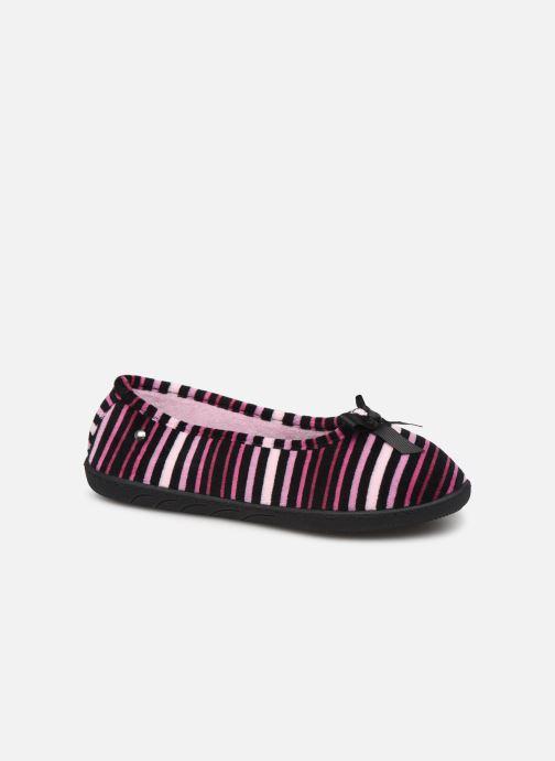 Chaussons Isotoner Ballerine velours semelle ergonomique 2 Multicolore vue détail/paire