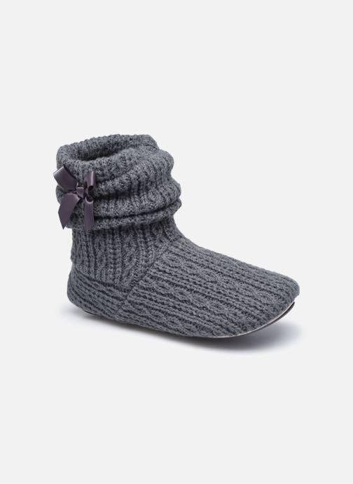 Chaussons Femme Botillon tricot et nœud