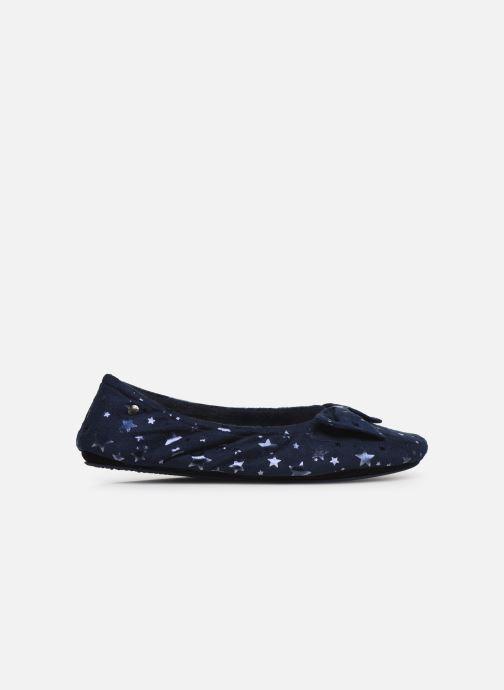 Slippers Isotoner Ballerine suédine étoiles Blue back view