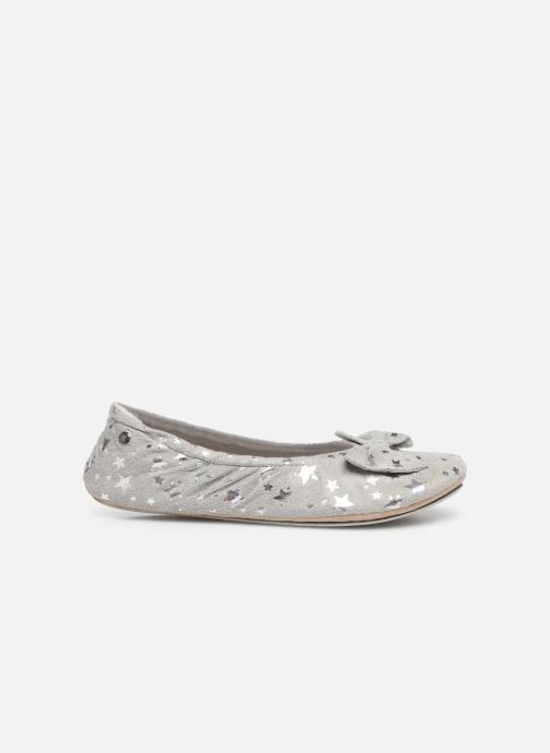 Slippers Isotoner Ballerine suédine étoiles Grey back view