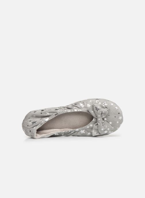 Slippers Isotoner Ballerine suédine étoiles Grey view from the left