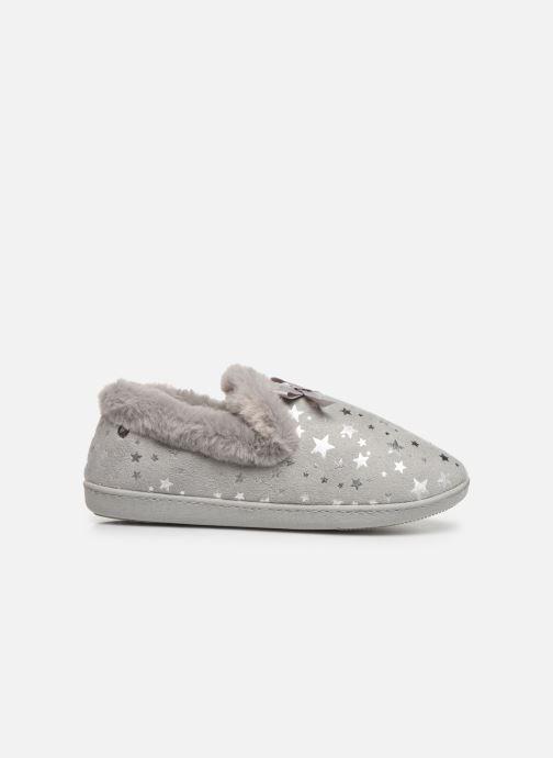 Pantoffels Isotoner Charentaise suédine étoiles semelle ergonomique Grijs achterkant