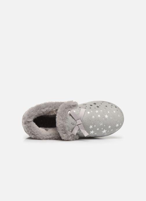 Pantoffels Isotoner Charentaise suédine étoiles semelle ergonomique Grijs links