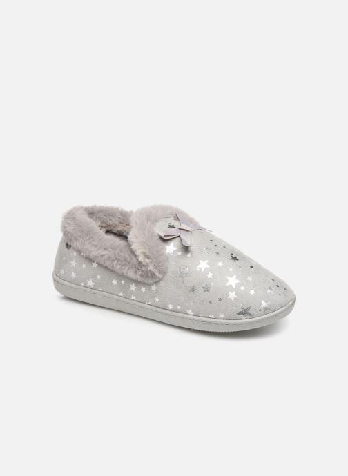Pantoffels Isotoner Charentaise suédine étoiles semelle ergonomique Grijs detail